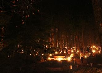 Vienkoču parkā aizvadīta gadskārtējā Uguns Nakts