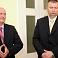 """Partijas """"Talsu novada attīstībai"""" līderis Aldis Vilsons (no labās) un Talsu novada domes priekšsēdētājs Aivars Lācarus"""