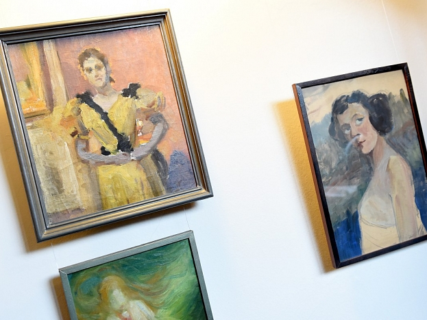 Gleznas Jaņa Rozentāla un Rūdolfa Blaumaņa muzeja telpās.