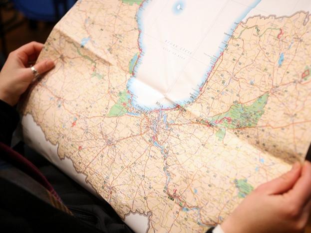 """Latvijas lauku tūrisma asociācijas """"Lauku ceļotājs"""" pārgājienu kartes prezentācija."""