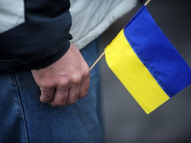 Ukrainas tautai veltītā atbalsta akcija pie Brīvības pieminekļa.