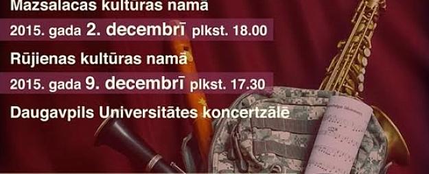 Bruņoto spēku kamersansamblis koncertēs Mazsalacā un Rūjienā