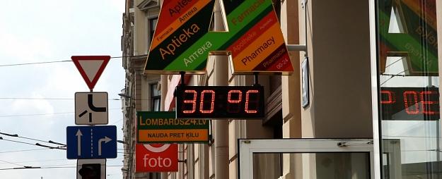 Otrdien saule mīsies ar mākoņiem un gaisa temperatūra sasniegs +25 grādus