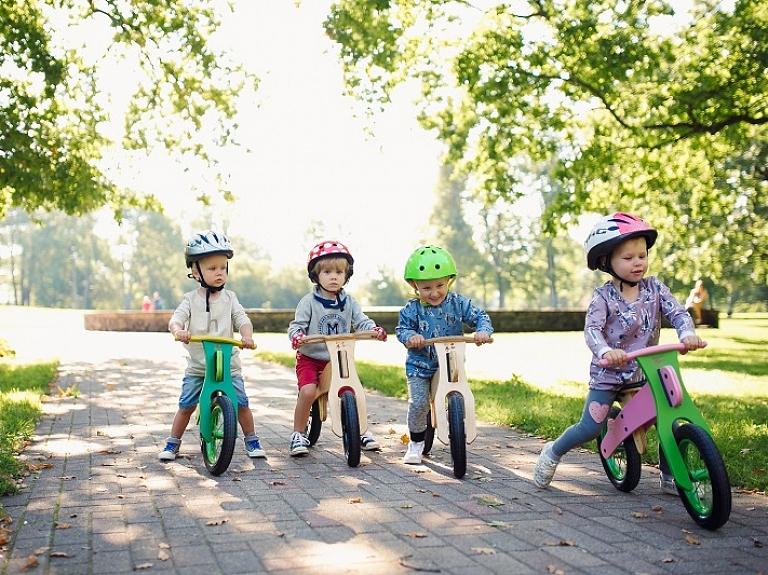 """""""DIP DAP"""" – aktuāli mazākajiem riteņbraucējiem Latvijā"""