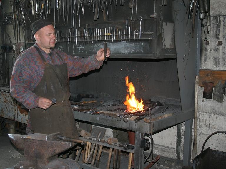 Ginta Haņecka kalēja darbnīca
