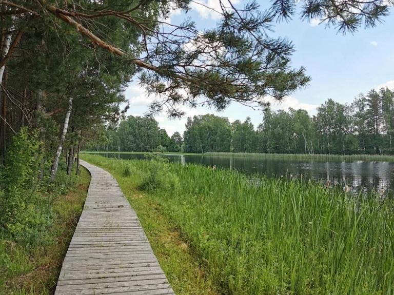 Bilskas ezers un dabas taka