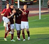 Foto: Pilseta24.lv|Latvijas futbola izlase Baltijas kausa izcīņas spēlē Liepājā ar rezultātu 2:1 pārspēja Lietuvas valstsvienību.