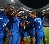 AFP/ LETA|Eiropas futbola čempionātā 7.jūlija spēlē Vācijas komanda piekāpās Francijai ar rezultātu 0:2, nosūtot Francijas izlasi uz finālu, kur tā cīnīsies ar Portugāles komandu 10.jūlijā.