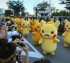 Foto: AFP/ LETA|Japānā norisinājies vērienīgs festivāls, kura laikā ielās izgājuši tūkstošiem Pikačū.