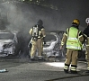 Foto: EPA/ LETA|Vairākas naktis pēc kārtas gan Zviedrijā, gan Dānijā notikusi masveida automašīnu dedzināšana.