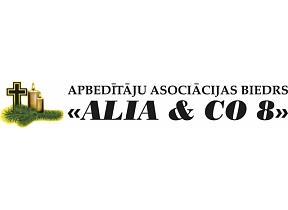 """""""ALIA & CO 8"""", SIA, Apbedīšanas birojs, Apbedītāju asociācijas biedrs"""